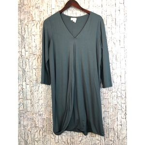 Anthropologie Meadow Rue Green/gray Shift Dress
